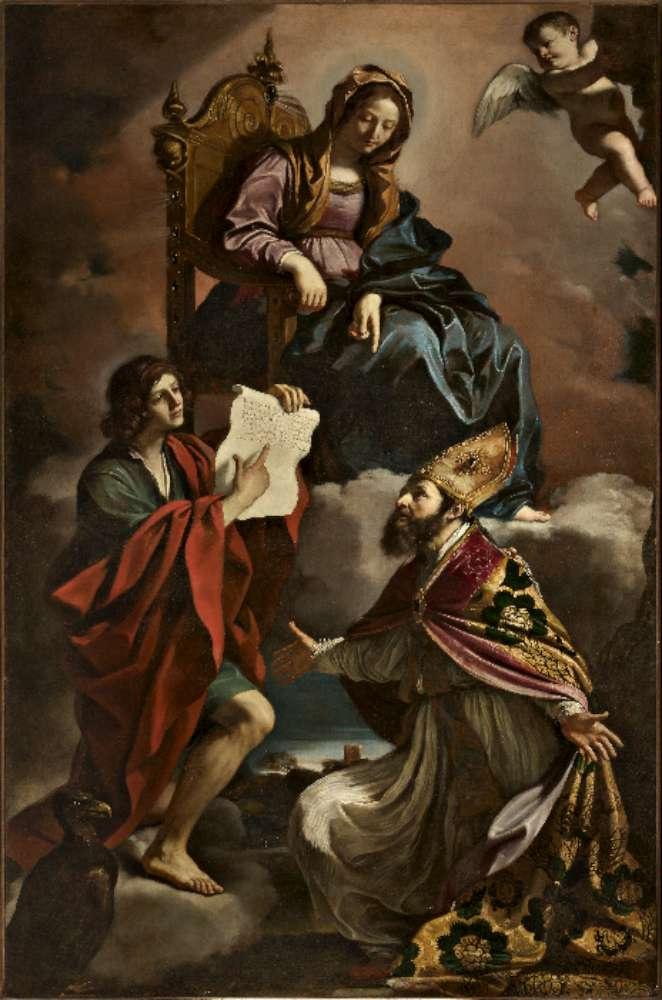 Джованни Франческо Гверчино. Мадонна со святыми Иоанном Богословом и Григорием Чудотворцем