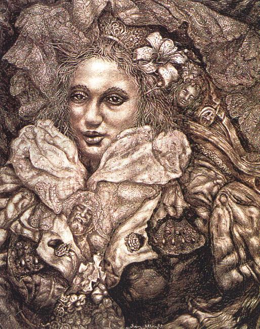 Иван Ле Лоррейн Олбрайт. Женщина с цветком