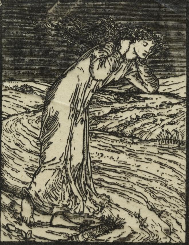 Уильям Моррис. Купидон и Психея. Девушка у ручья
