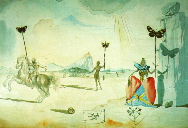 Salvador Dali. Landscape with Cavalier and Galai