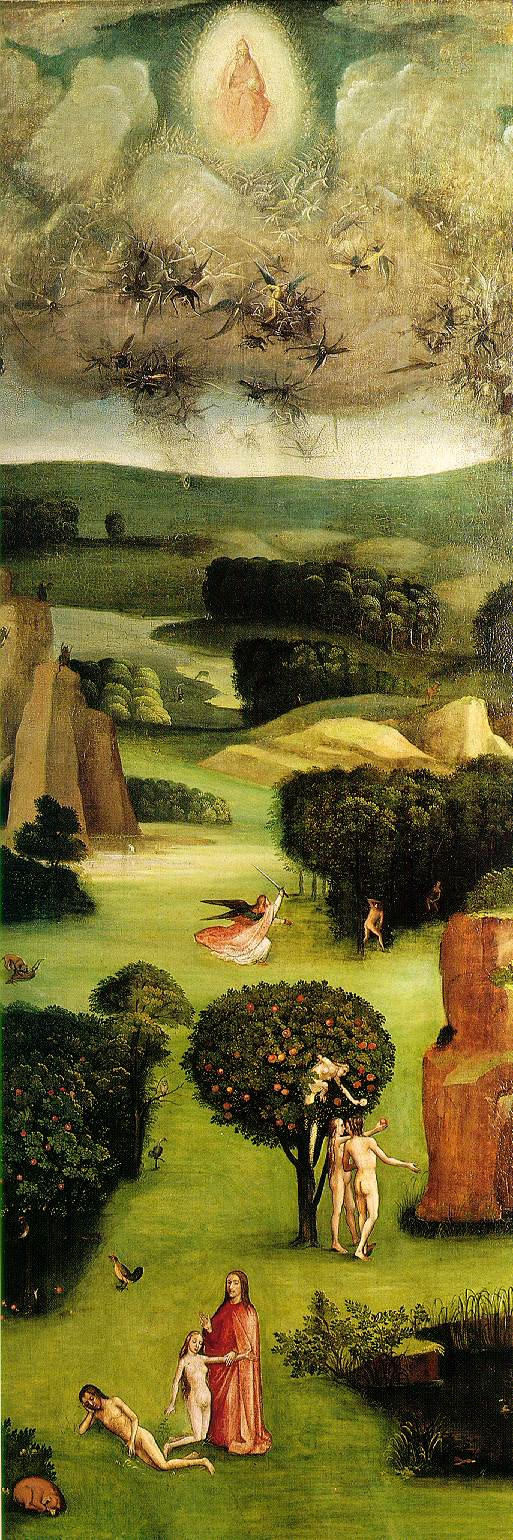 Hieronymus Bosch. Paradise. The triptych the last judgment. Left wing