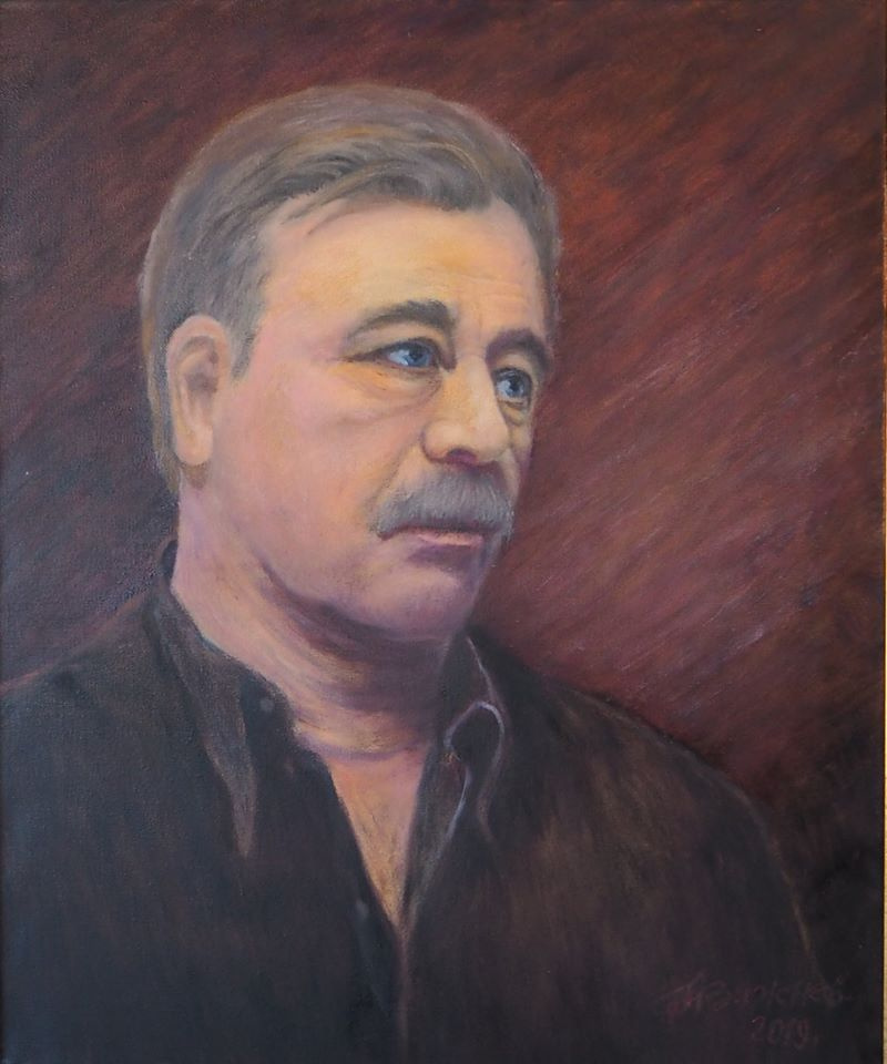 "Alexander Fedorovich Vazhnev. The author is A.F. Vazhnev. ""PORTRAIT OF A.S. FEDOROV"". 2019, 60х50, oil / canvas. Moscow - N. Novgorod"