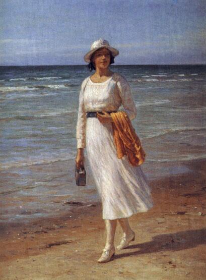 Дженсен Нильс Фредерик Шиотт. Леди гуляет по пляжу