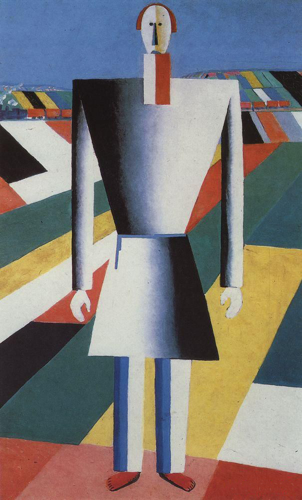 Kazimir Malevich. The farmer in the field