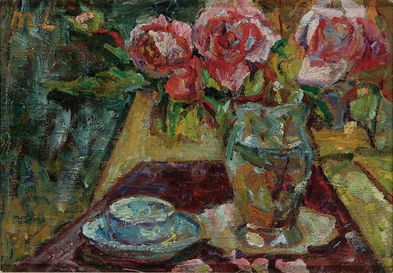 Михаил Федорович Ларионов. Натюрморт с розами