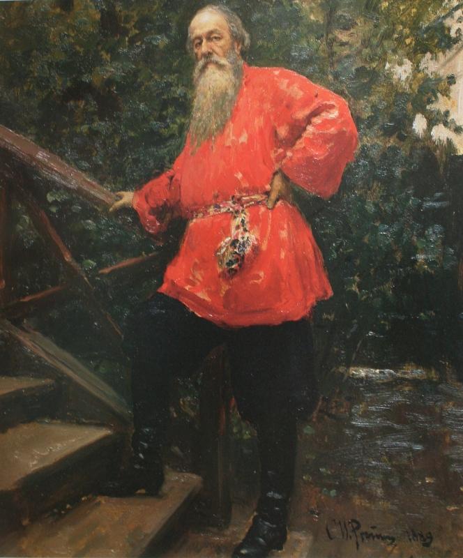 Ilya Efimovich Repin. Portrait of V.V. Stasov. State Tretyakov Gallery.
