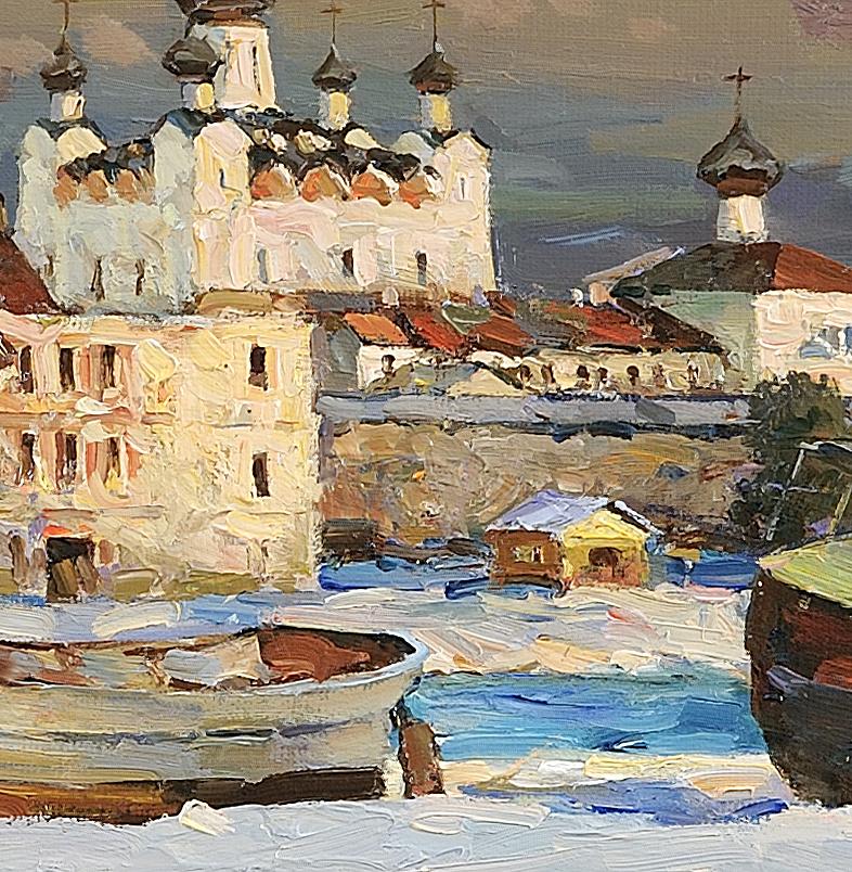 Spring Solovki. Oil on canvas 37 x 95 cm. 2014