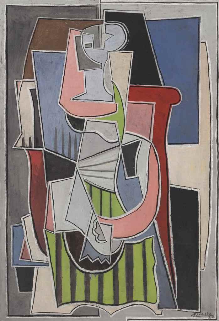 Пабло Пикассо. Женщина, сидящая в кресле (Портрет Ольги Хохловой)