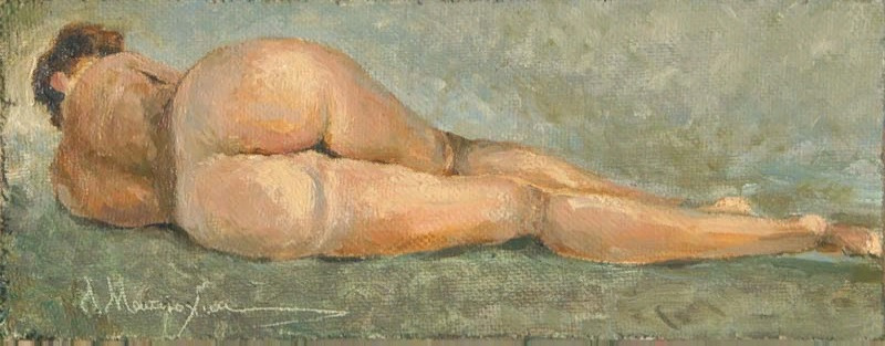 Alexander Matyukhin. Sketch nude_1 (11x29.5 cm)