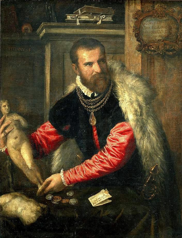 Titian Vecelli. Portrait Of Jacobo Strada