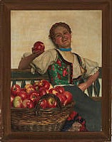 Эмиль Пап. Girl with an apple.