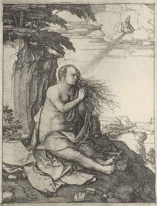 Лукас ван Лейден (Лука Лейденский). Святая Мария Магдалина в пустыне