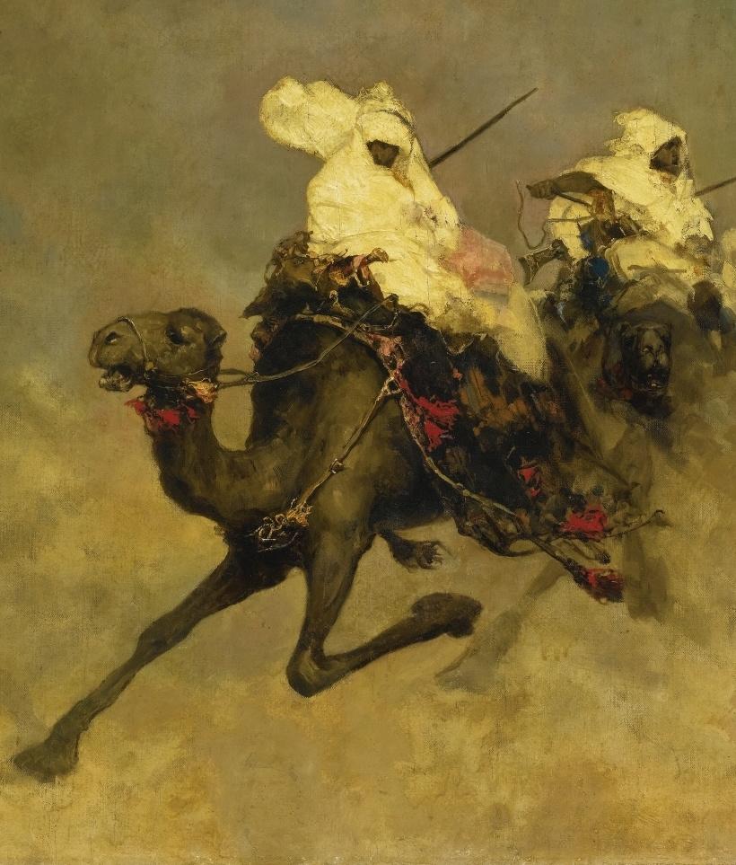 Вильгельм Александрович Котарбинский. Всадники на верблюдах. Фрагмент