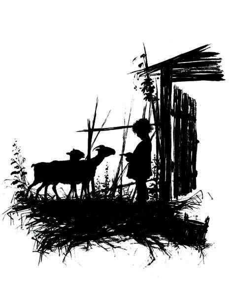 Елизавета Меркурьевна Бём (Эндаурова). Мальчик с козами