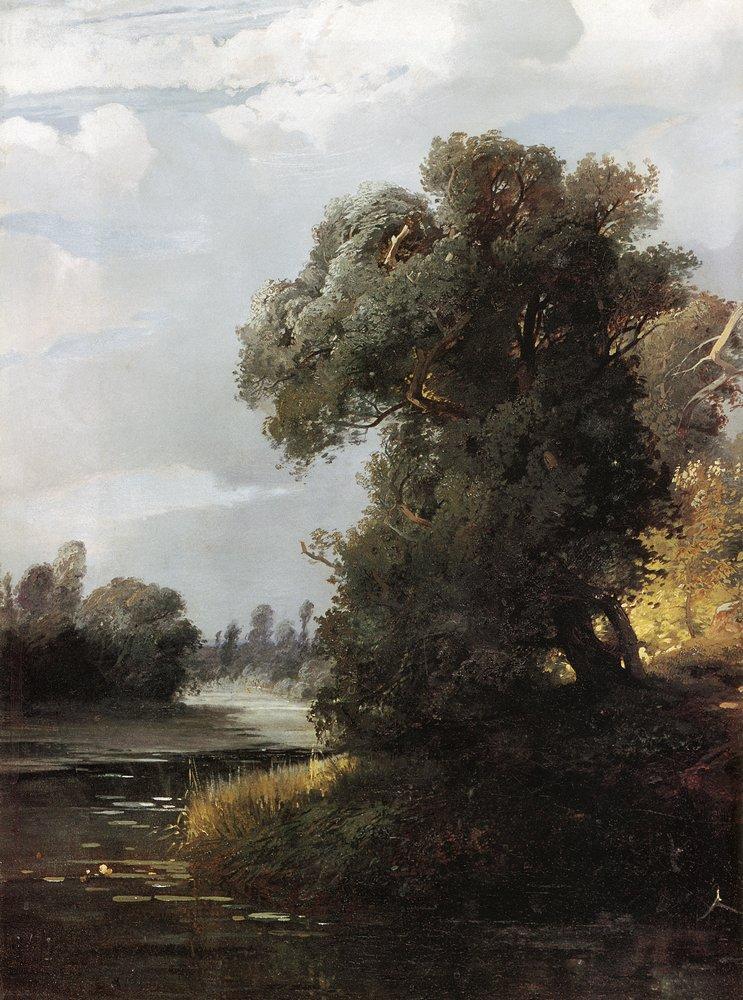 Алексей Кондратьевич Саврасов. Ивы на берегу реки