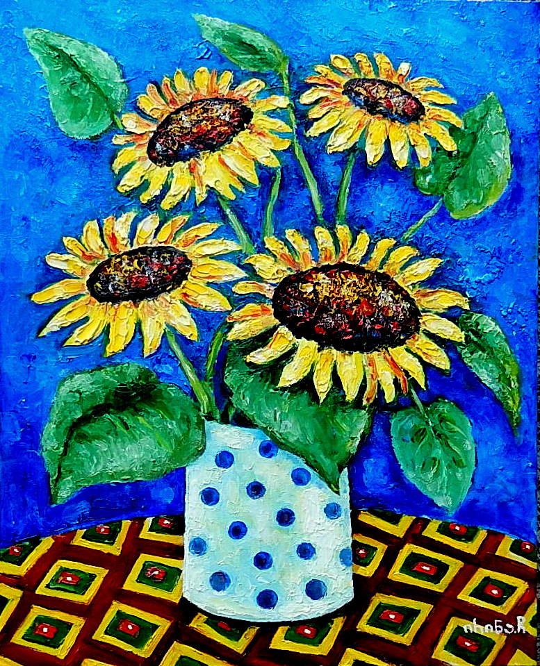 Irina Chitashvili. Sunflowers