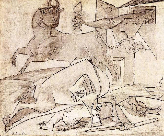 Пабло Пикассо. Исследование для Герника