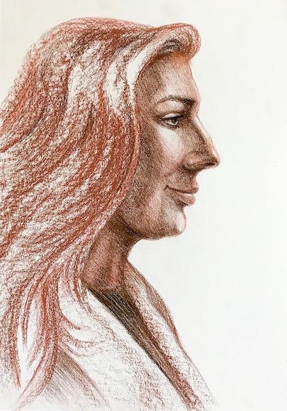 Larissa Lukaneva. Портрет натурщицы в профиль