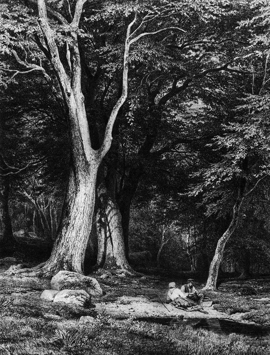 Ivan Shishkin. Vacation in the woods