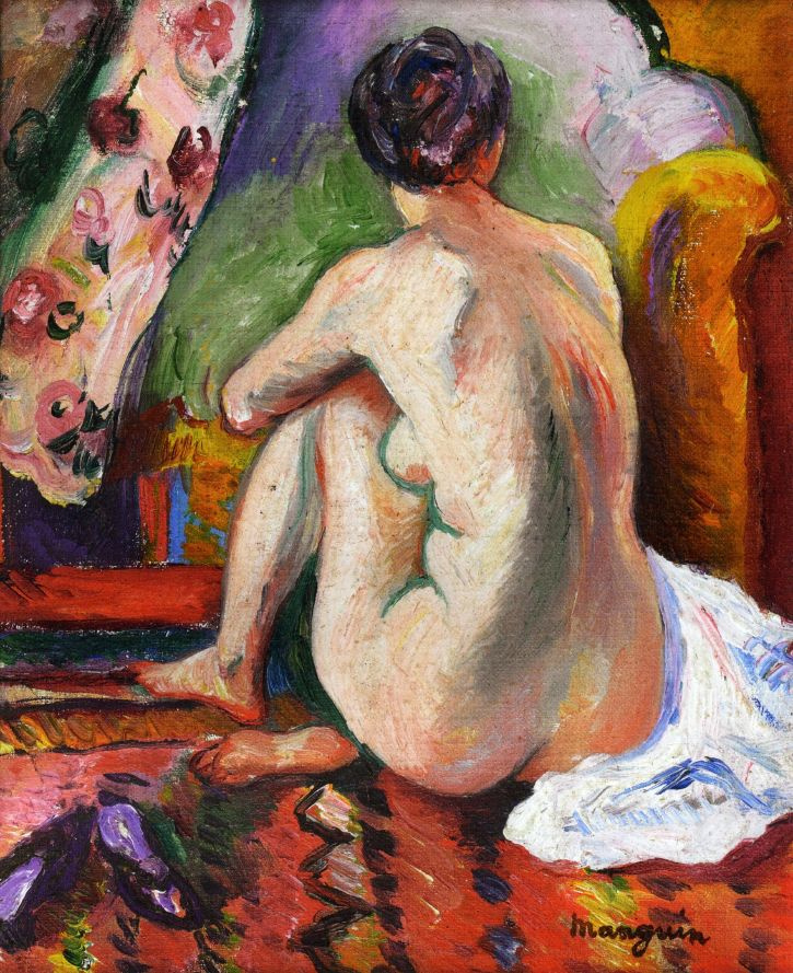 Henri Manguin. Seated Nude from behind