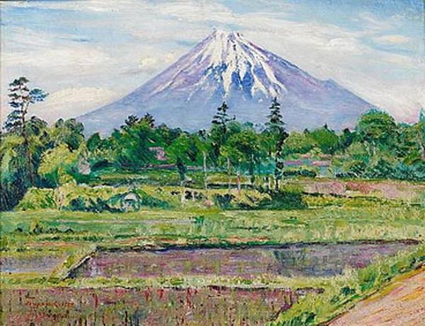 Давид Давидович Бурлюк. Гора Фудзи, Япония