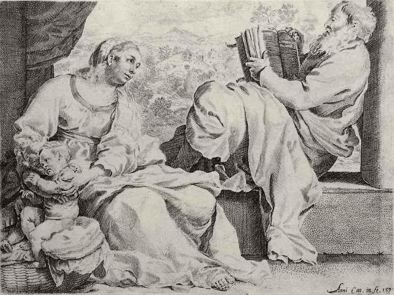 Аннибале Карраччи. Святое Семейство с Иоанном Крестителем