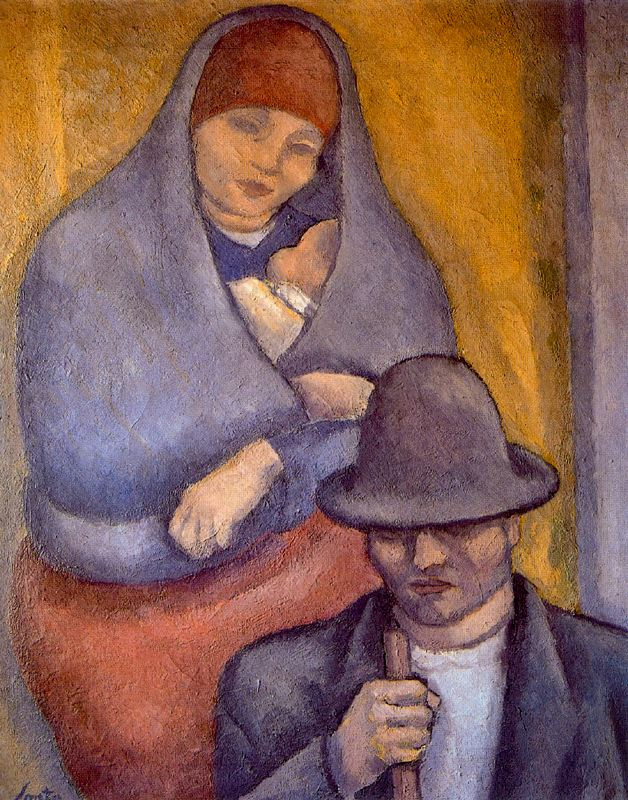 Arturo Souto. A woman and a man in a cap