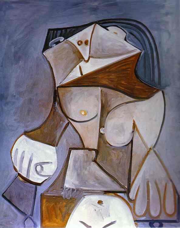 Пабло Пикассо. Обнаженная на корточках