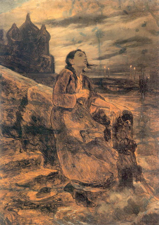 Василий Григорьевич Перов. Девушка, бросающаяся в воду