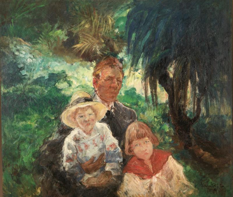 Konstantin Pavlovich Kuznetsov. Self-portrait with sons Mikhail and Alexander