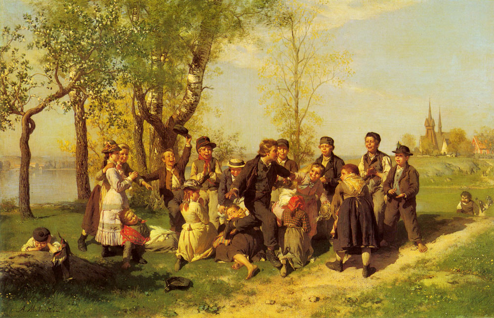 Август Мальмстрём. Играющие дети