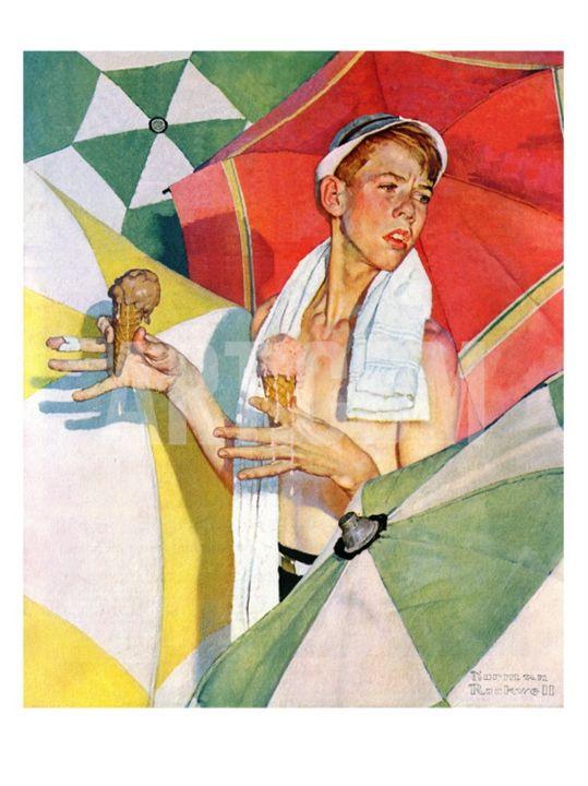 "Норман Роквелл. Радости лета. Обложка журнала ""The Saturday Evening Post"" (13 июля 1940 год)"