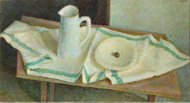 Vladimir Grigorievich Weisberg. White jug and bowl on a towel