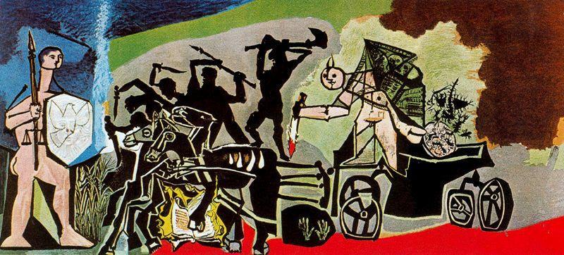 Пабло Пикассо. Война (Война и мир). Роспись часовни в Валлорисе