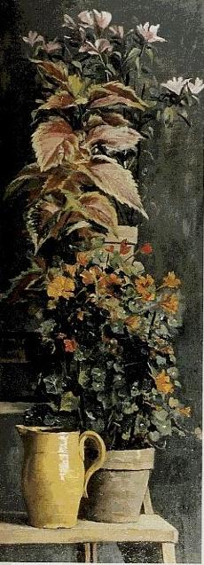 Мария Константиновна Башкирцева. Capuchins, Coleus and Rhododendrons