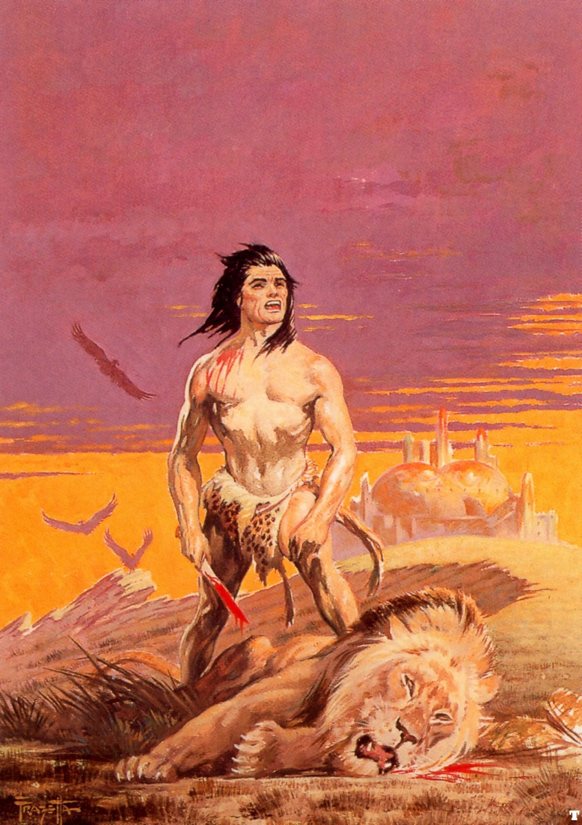Frank Frazetta. Tarzan and the Golden city