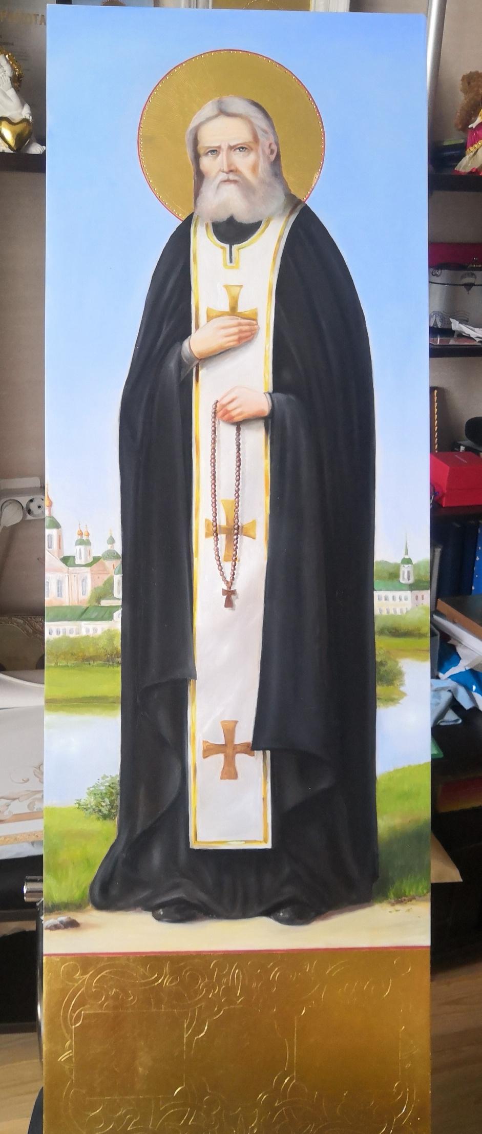 "Lupanov. Icon ""Seraphim of Sarov"""