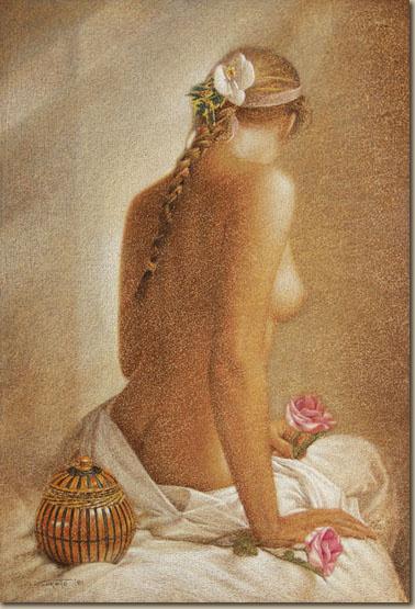 Уолтер Гиротто. Обнаженная с розами