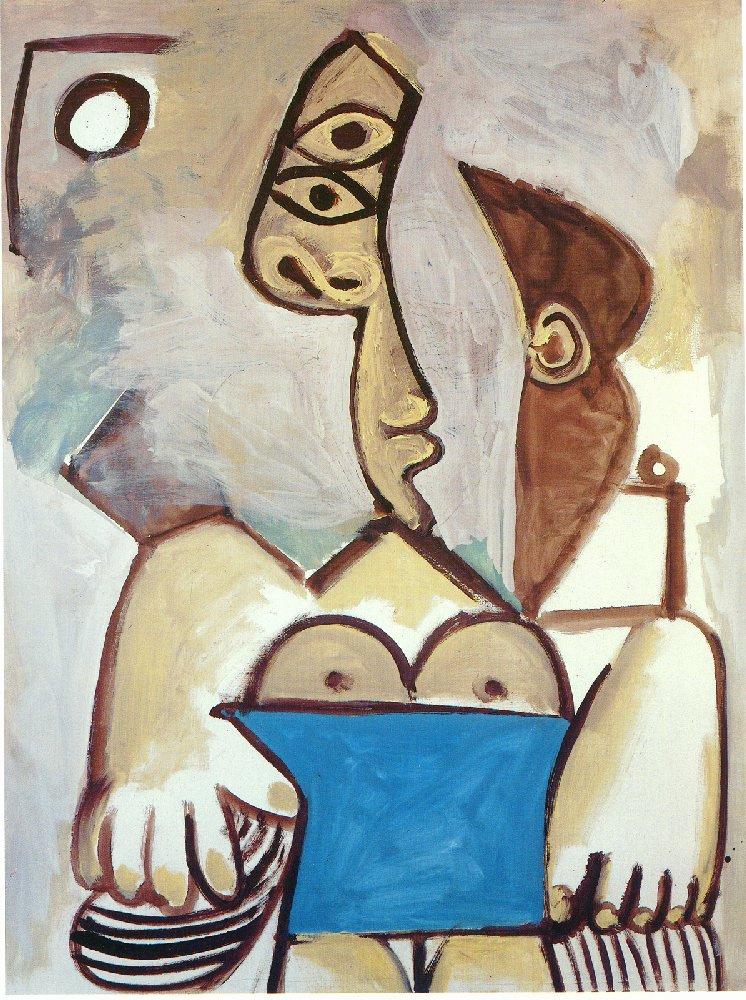 Пабло Пикассо. Сидящая женщина (Жаклин)