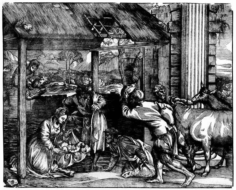 Тициан Вечеллио. Поклонение пастухов