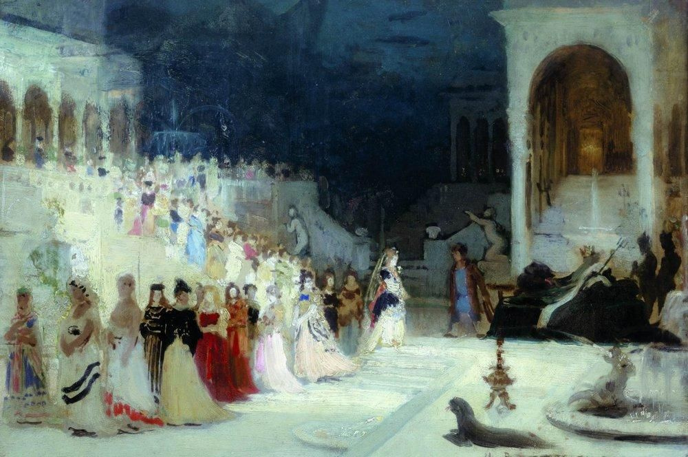 Илья Ефимович Репин. Сцена из балета