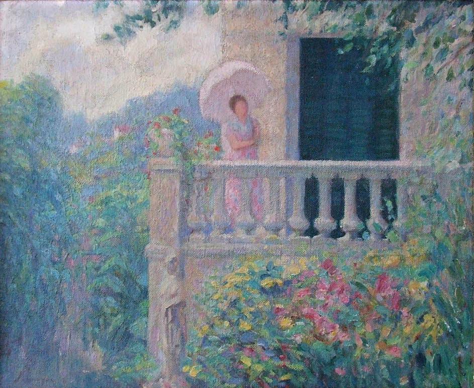Анри Лебаск. Леди на балконе
