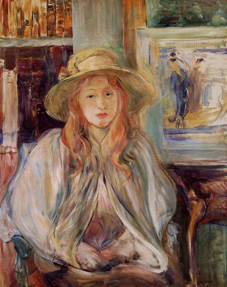 Берта Моризо. Девочка в соломенной шляпе