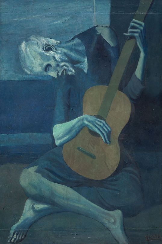 Pablo Picasso. Old guitar player