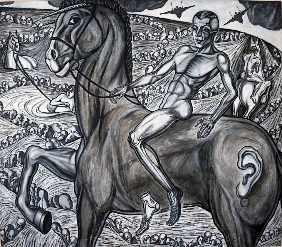 Alexander Ivanovich Elmar. Horse - Bled