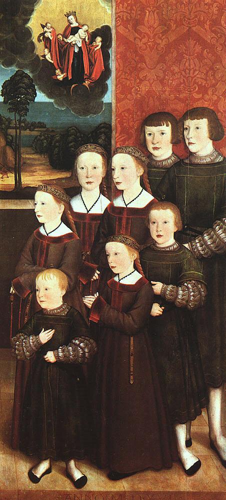 Бернхард Стпигел. Восемь детей