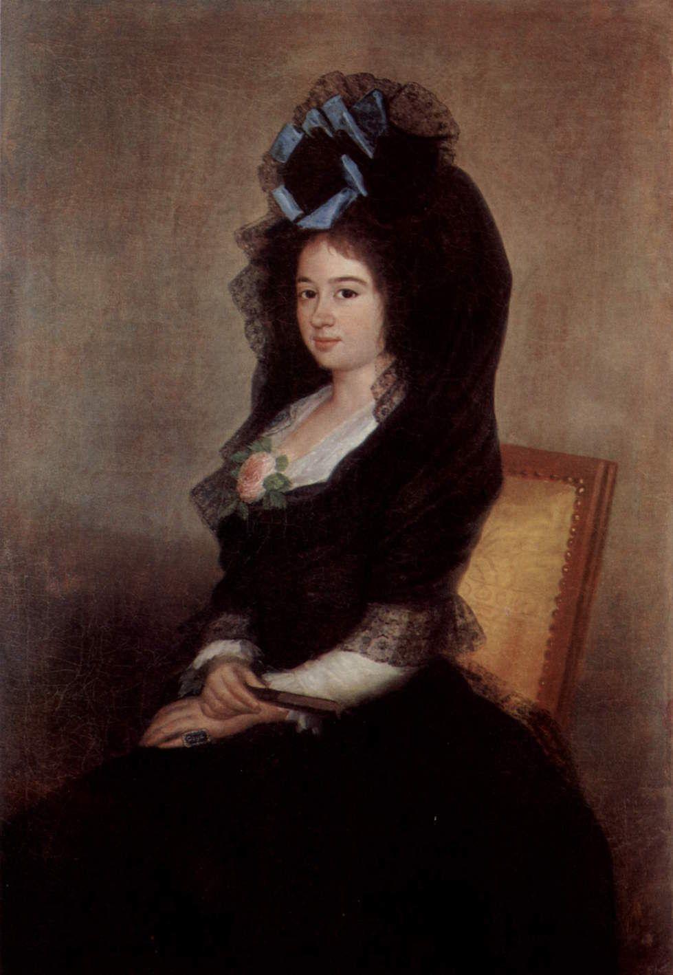 Francisco Goya. The portrait of Mrs. Narcisi of Barangay de Goicoechea