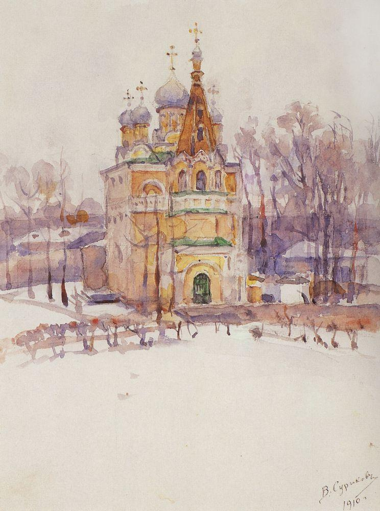 Василий Иванович Суриков. Церковь