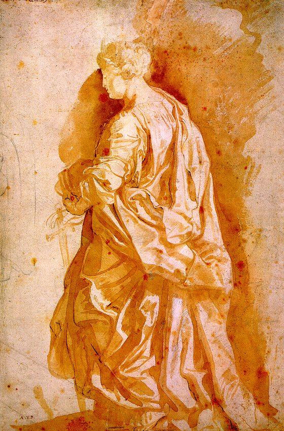 Питер Пауль Рубенс. Эскиз для статуи святой женщене
