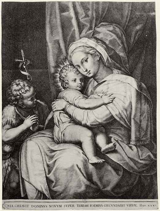 Доменико Тибальди. Мадонна с Иоанном Крестителем
